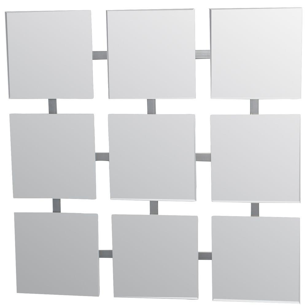 Studio Arts 26 in. x 26 in. Modern Blocks Frameless Decorative Mirror-DISCONTINUED