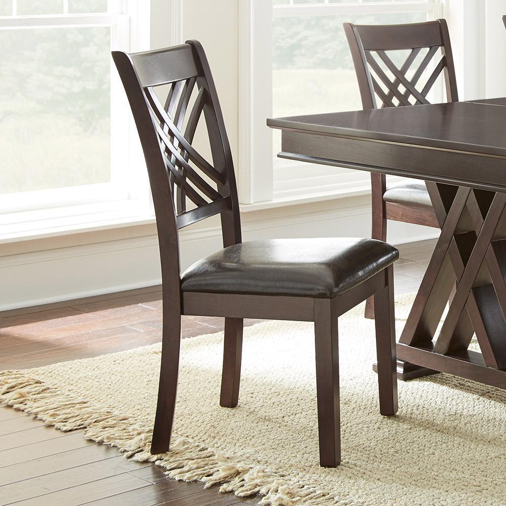 Amazing Steve Silver Company Adrian Espresso Side Chairs Set Of 2 Machost Co Dining Chair Design Ideas Machostcouk