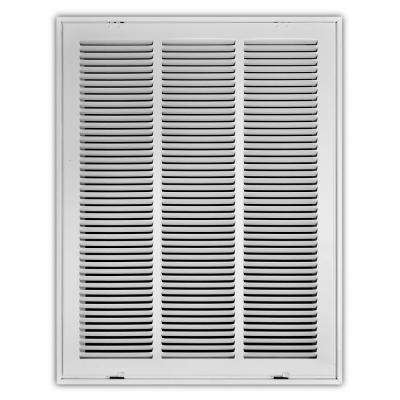 18 in. x 24 in. White Return Air Filter Grille