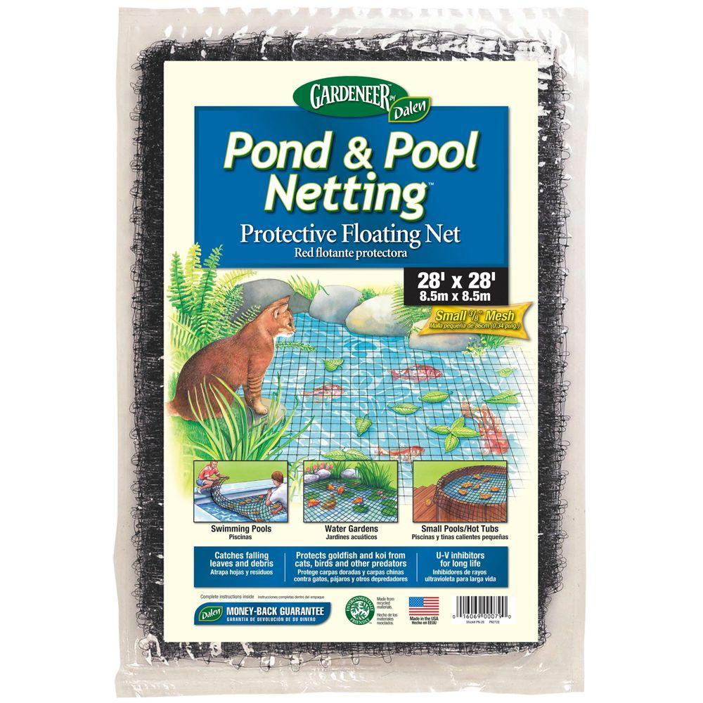 null Dalen Products Pool and Pond netting 3/8 in. Polypropylene Mesh (28 ft. x 28 ft.)