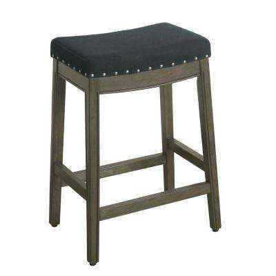 Blake Backless 24 in. Blue Bar Stool