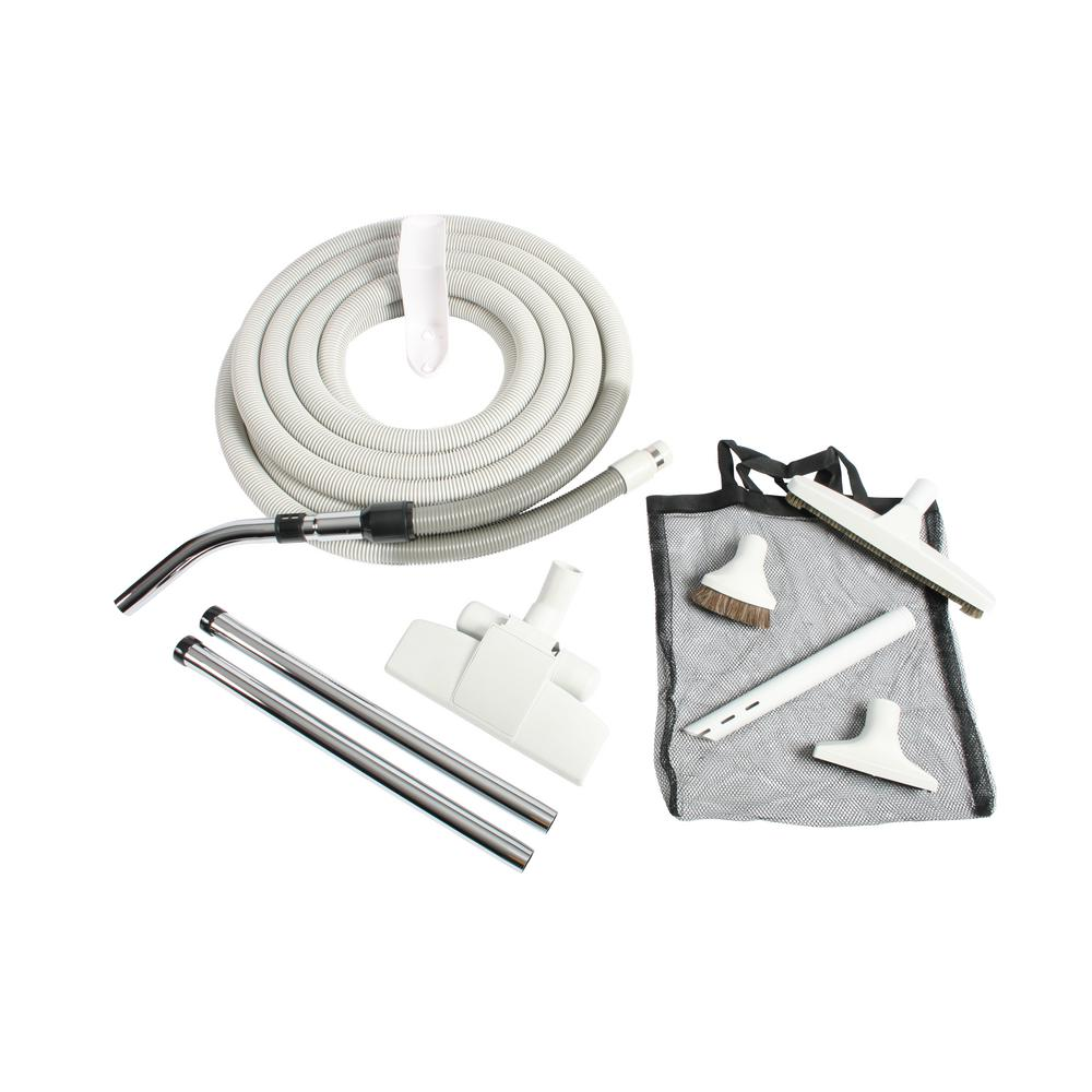 Premium Gray Attachment Kit with 35 ft. Hose for Central Vacuums