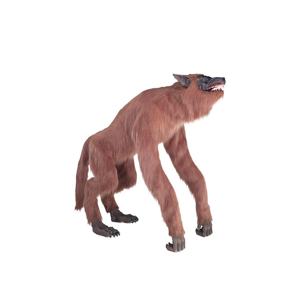 Home Accents Holiday 63 in. Animated Crouching Fur Werewolf with LED Eyes