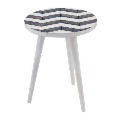 Olas Collection Mango White Side Table