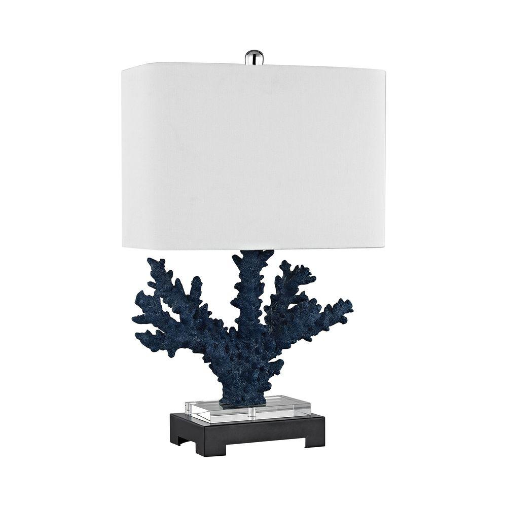 An Lighting Cape Sable 26 In Navy Blue Table Lamp
