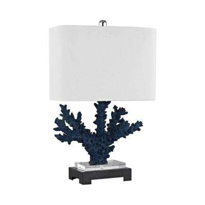 Blue rectangular table lamps lamps the home depot navy blue table lamp mozeypictures Choice Image