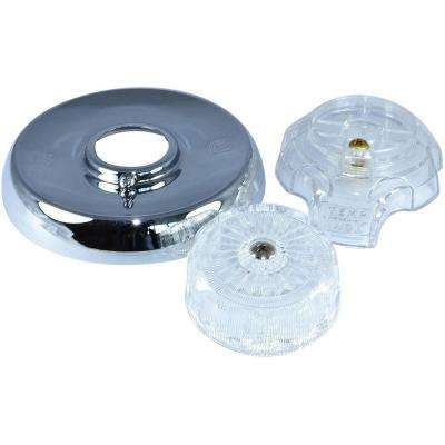 Single-Handle Tub and Shower Trim Kit for Mixet Faucets in Clear Acrylic/Chrome Finish (Valve Not Included)