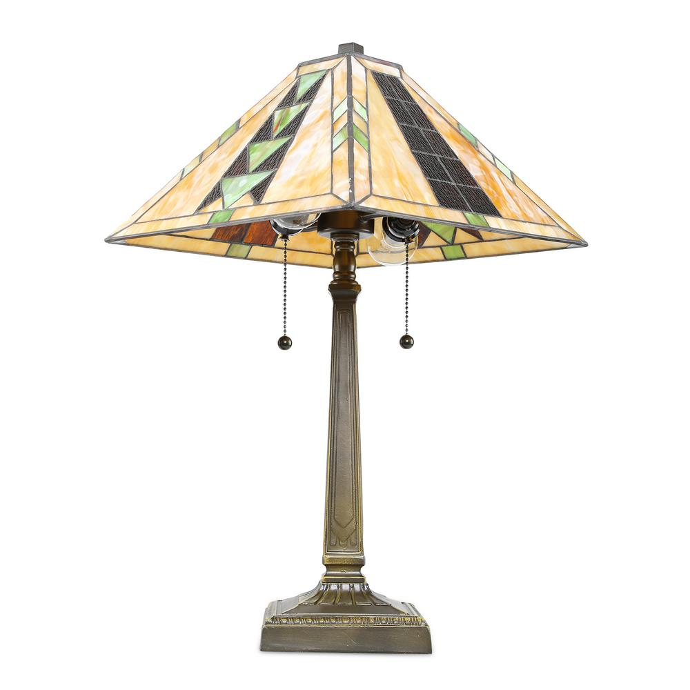 Serena ditalia tiffany golden poppy 23 in bronze table lamp set tiffany mission 23 in bronze table lamp geotapseo Choice Image