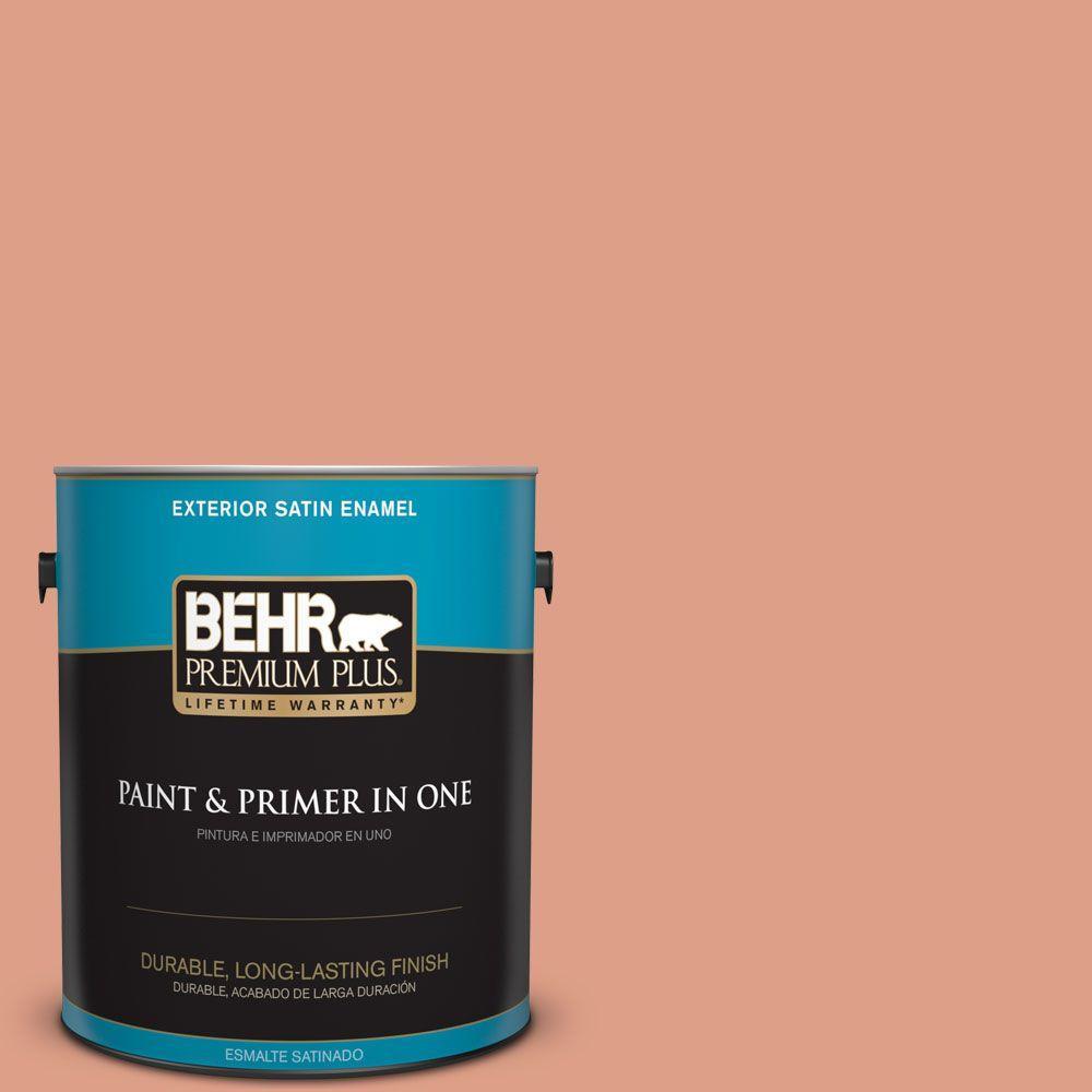 BEHR Premium Plus 1-gal. #220D-4 Southwest Stone Satin Enamel Exterior Paint