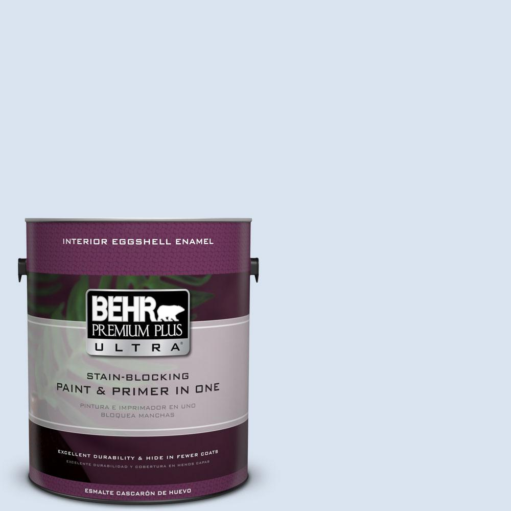 BEHR Premium Plus Ultra 1-gal. #590C-2 Ocean Air Eggshell Enamel Interior Paint