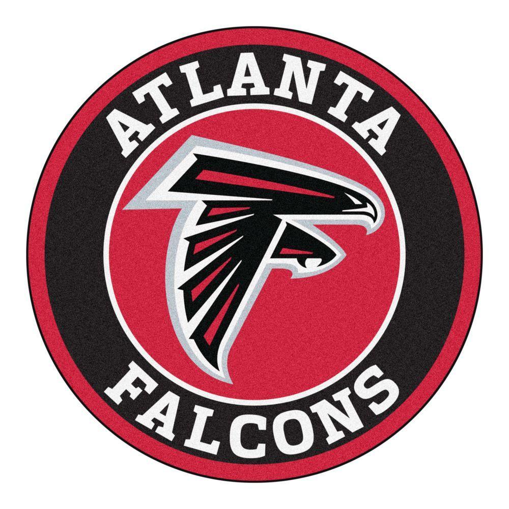 NFL Atlanta Falcons Black 2 ft. Round Area Rug