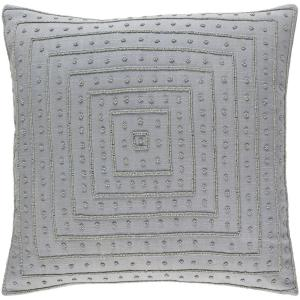 Athelstane Medium Gray Solid Polyester 20 in. x 20 in. Throw Pillow