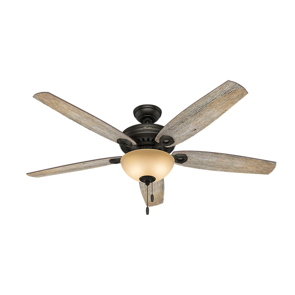 Indoor Brittany Bronze Ceiling Fan With Light