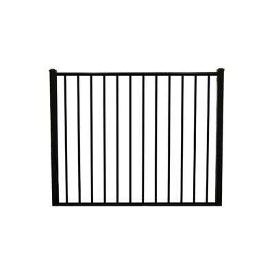 Newtown 6 ft. W x 4 ft. H Black Aluminum Fence Gate