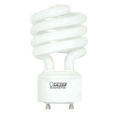 100-Watt Equivalent Soft White (2700K) Spiral GU24 CFL Light Bulb