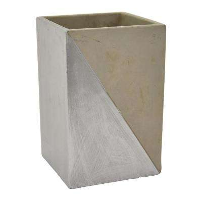 7 in. Gray and Silver Flower Pot
