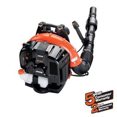 214 MPH 535 CFM 63.3cc Gas 2-Stroke Cycle Backpack Leaf Blower with Tube Throttle