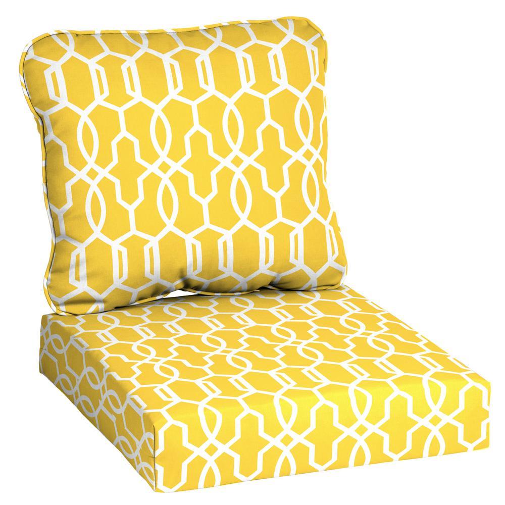 Hampton Bay Driweave 24 X 23 Vase, Deep Seat Patio Cushions