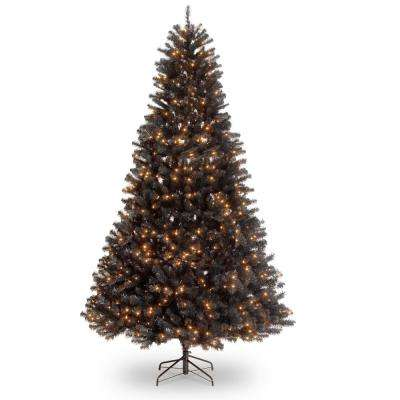 9 ft. North Valley Black Spruce Hinged Tree with 700 Clear Lights