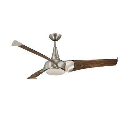 Charmed 55 in. Satin Nickel Indoor Ceiling Fan
