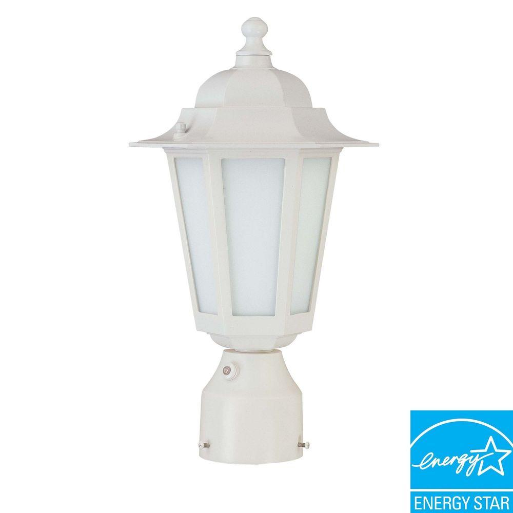 Green Matters Outdoor White Post Light