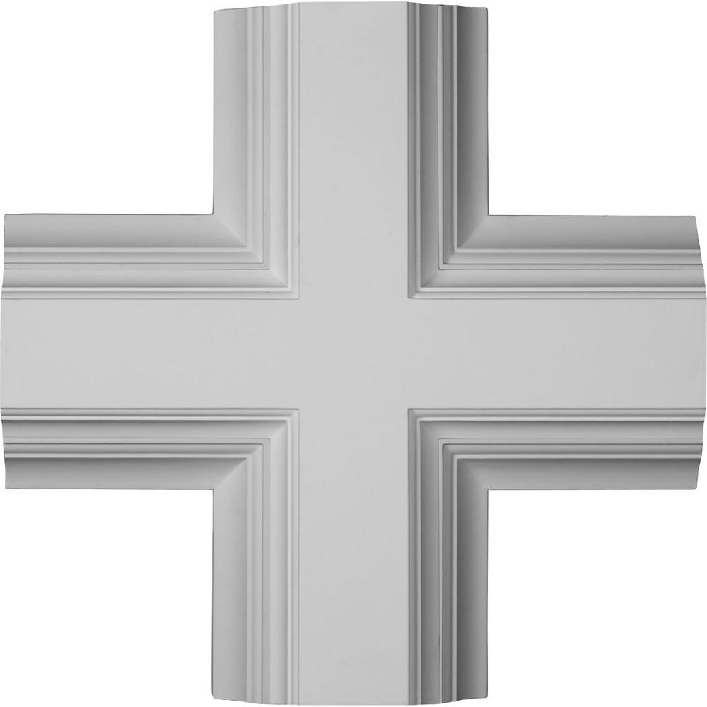 20 in. Inner Cross Intersection for 8 in. Deluxe Coffered Ceiling