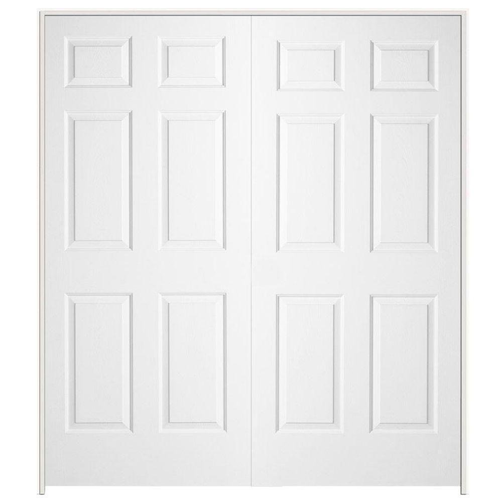 double white door texture. Colonist Primed Textured Molded Composite MDF Double Prehung Interior Door-902311 - The Home Depot White Door Texture O
