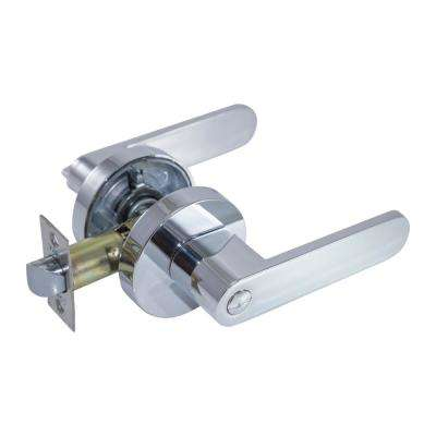 Sevilla Premium Bright Chrome Privacy Bed/Bath Door Lever