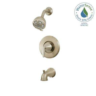 Pasadena Single-Handle 3-Spray Tub and Shower Faucet in Brushed Nickel (Valve Included)