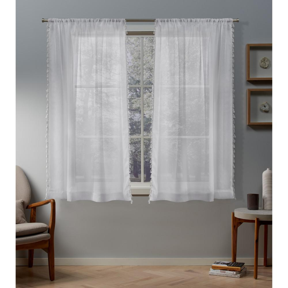 Exclusive Home Curtains Tassels 54 In W X 63 In L Sheer Rod Pocket