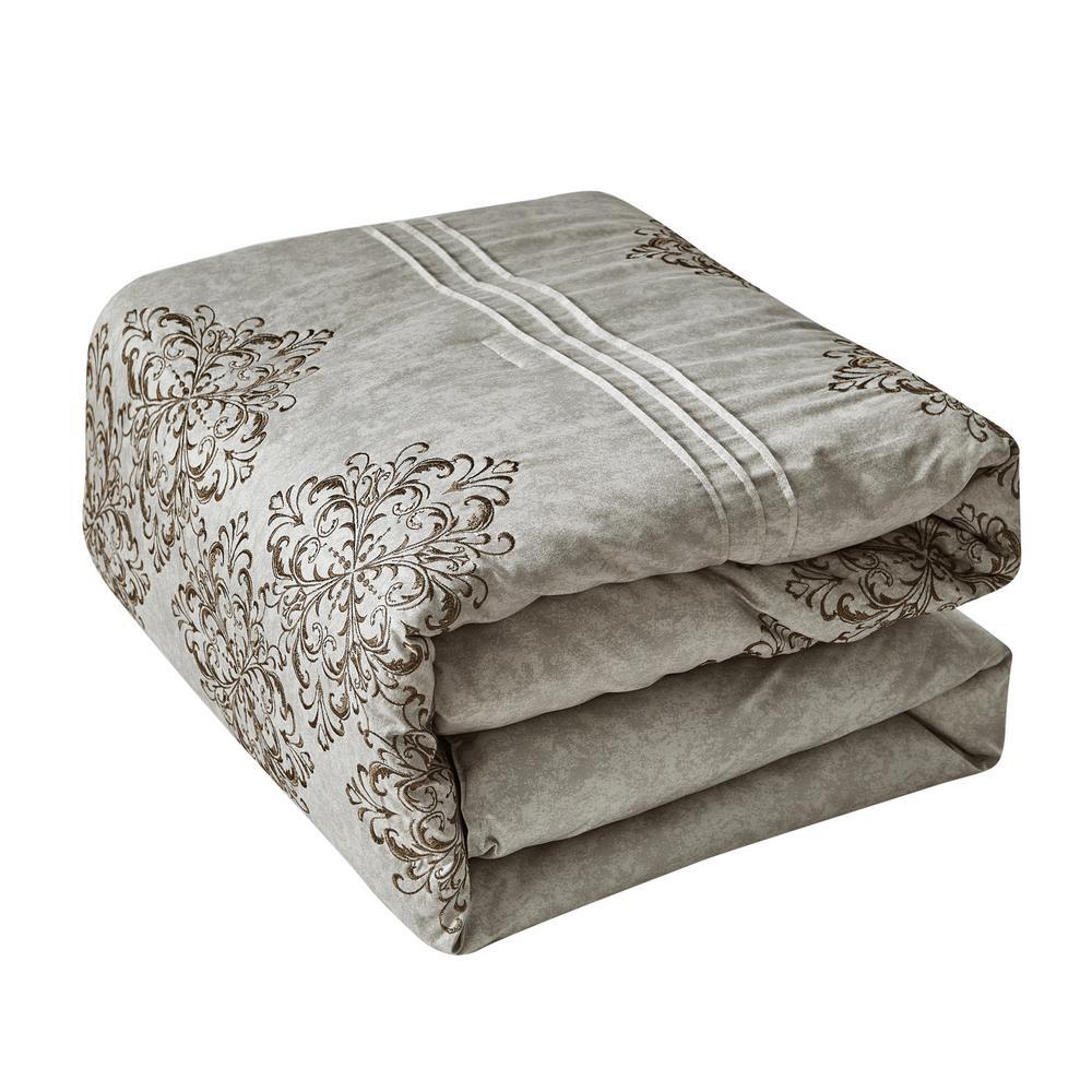 Mhf 7-Piece Brown Queen Comforter Set