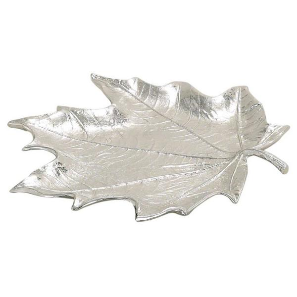 Maple 4 in. x 8 in. x 0.25 in. Silver Leaf Plate