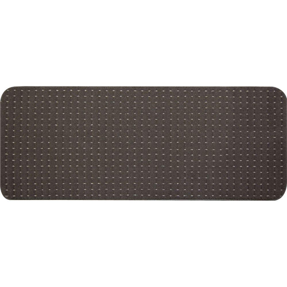 Pindot Chocolate 9 in. x 24 in. Stair Tread Cover (Set
