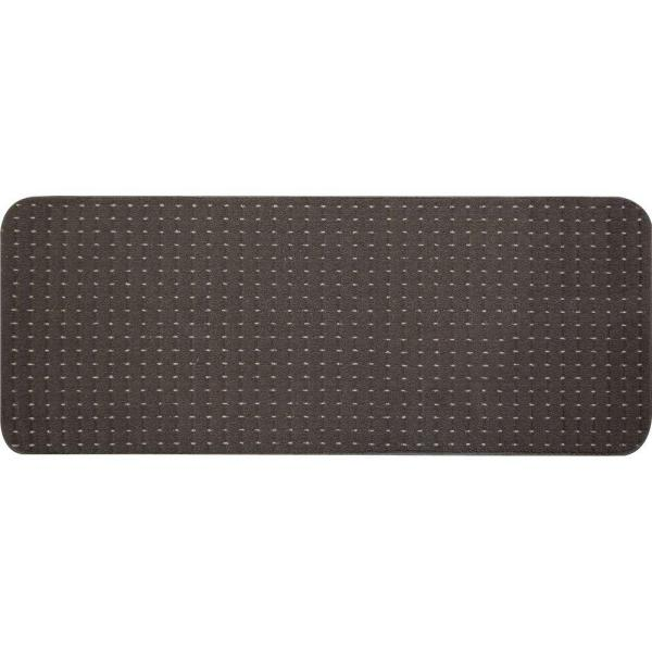 Pindot Chocolate 9 in. x 24 in. Stair Tread Cover (Set of 12)