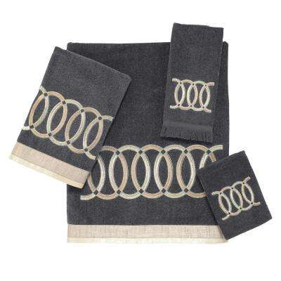Alexa 4-Piece Bath Towel Set in Granite