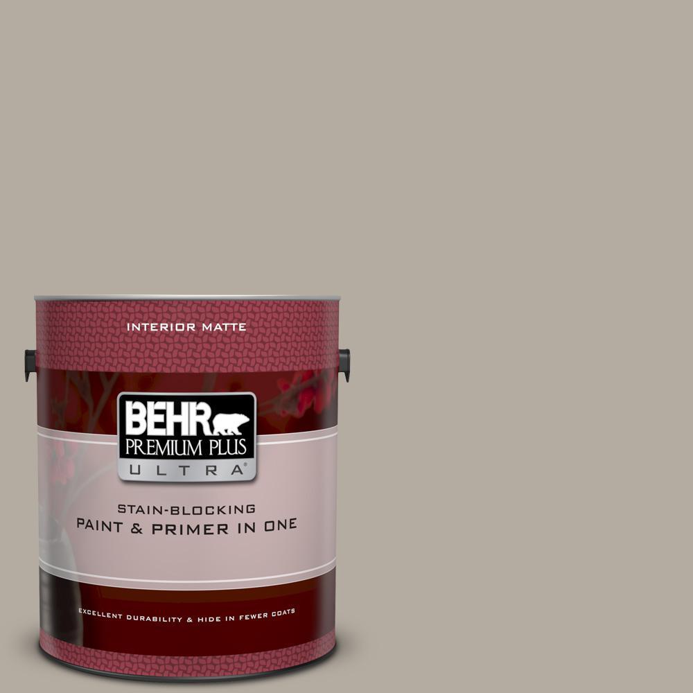 Behr Premium Plus Ultra 1 Gal Ul260 8 Perfect Taupe Matte Interior Paint