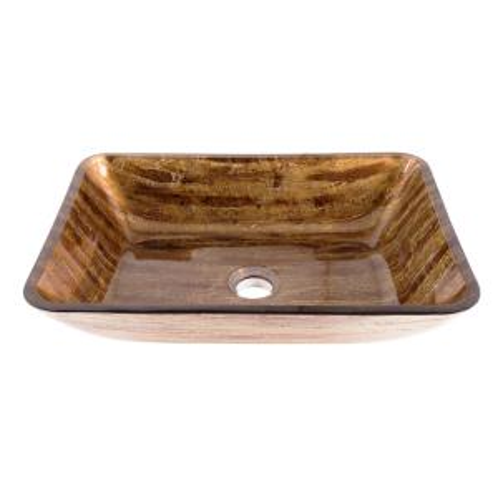 VIGO 18 inch Rectangular Vessel Sink in Amber Sunset by VIGO