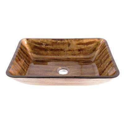 18 in. Rectangular Vessel Sink in Amber Sunset