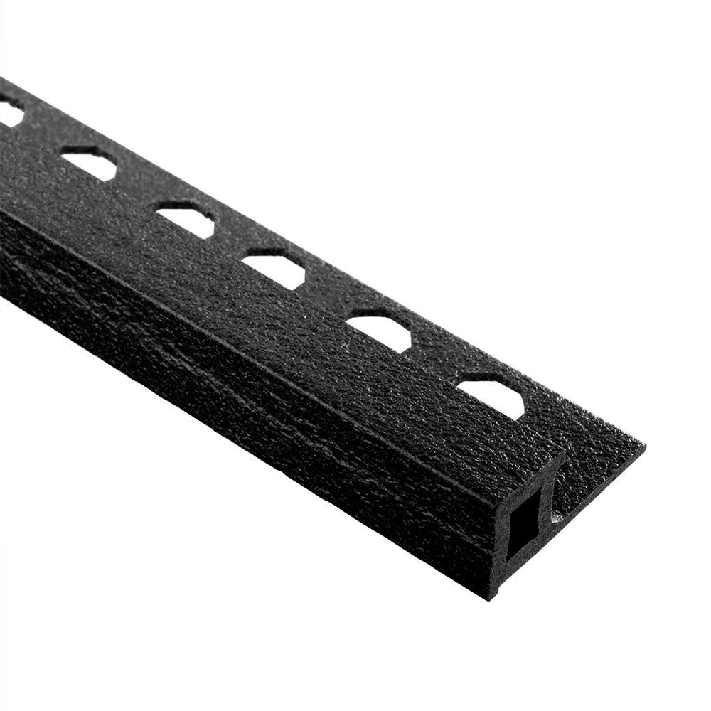 Novolistel Maxi Black 1/2 in. x 98-1/2 in. Composite Tile Edging