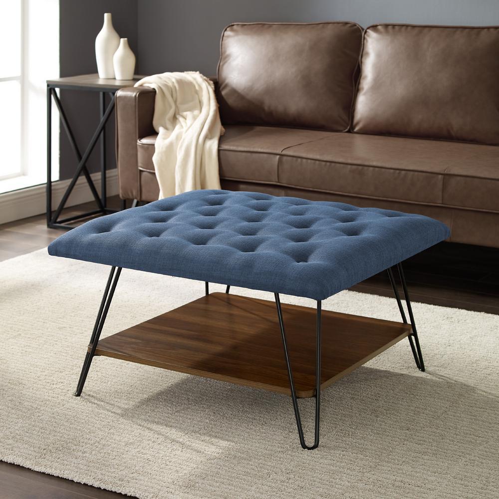 Wondrous Welwick Designs 30 In Blue Mid Century Modern Tufted Uwap Interior Chair Design Uwaporg