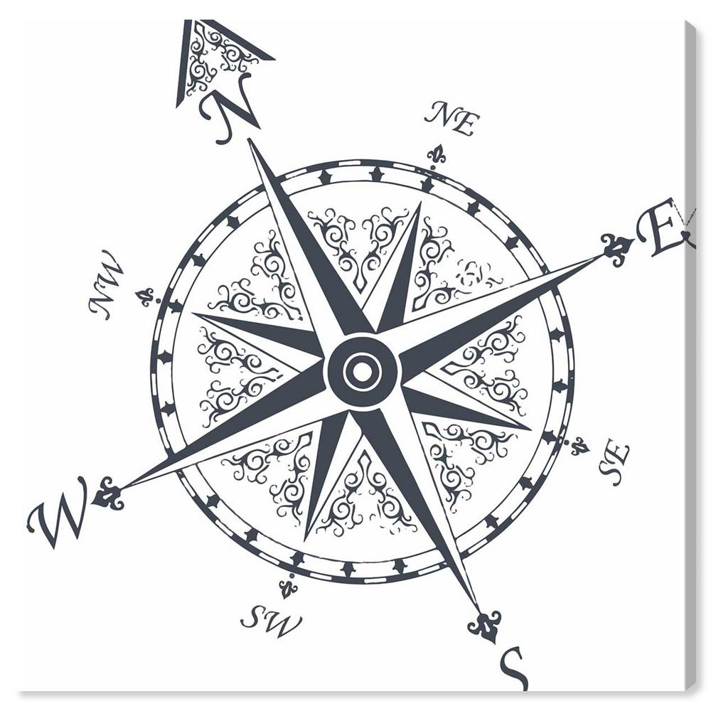"""The Oliver Gal Artist Co. """"Nautical Compass"""" By Oliver Gal"""