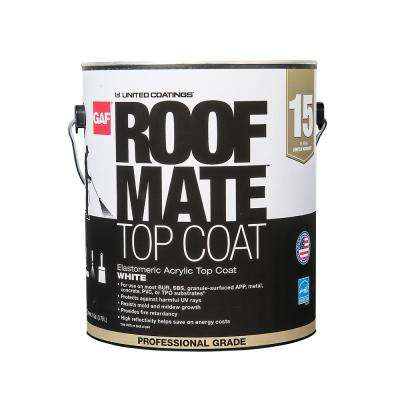 1 Gal. White Roof Mate Top Coat Reflective Roof Coating