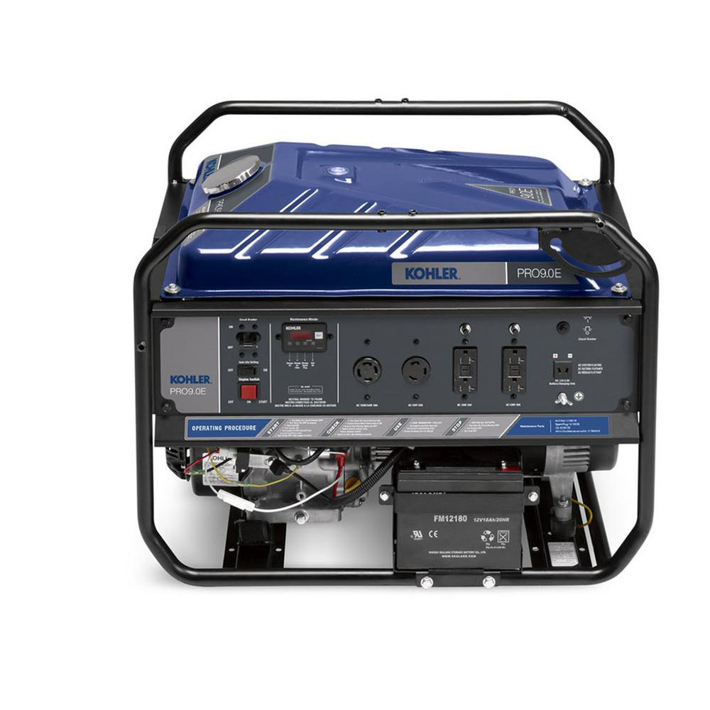 9,000-Watt Gasoline Powered Electric Start Portable Generator with Command PRO