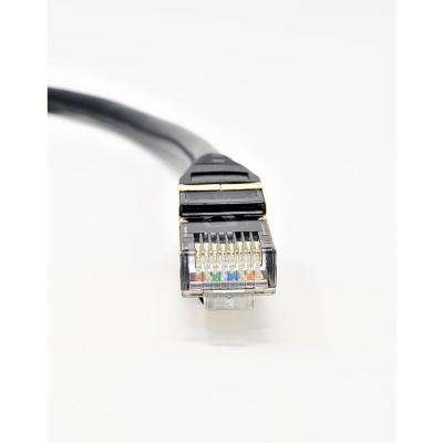 7 ft. CAT 8 SFTP 28AWG Double Shielded RJ45 Snagless Ethernet Cable Black (5-Pack)