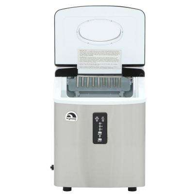 26 lb. Freestanding Ice Maker in Stainless Steel