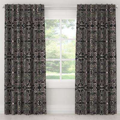 50 in. W x 84 in. L Unlined Curtain in Mosaic Multi Ink