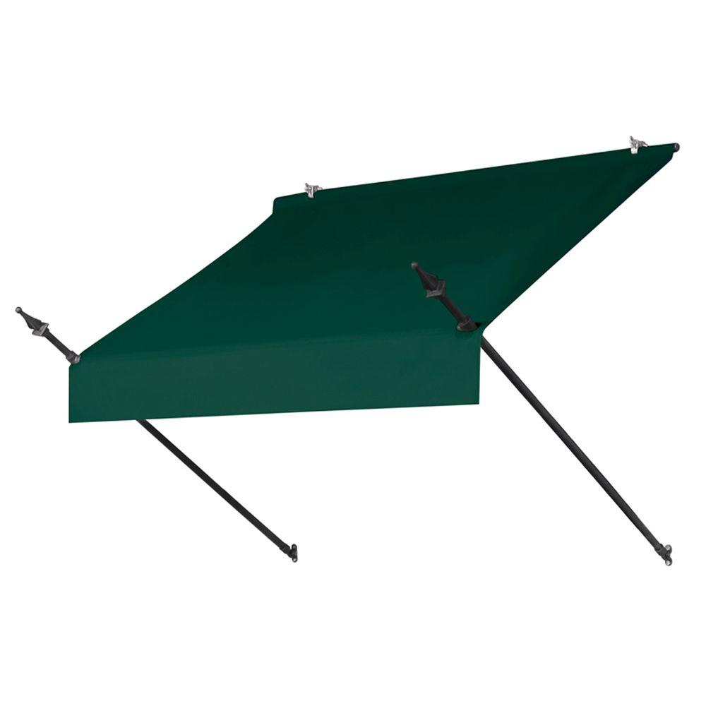 4 ft. Designer Manually Retractable Awning (36.5 in. Projection) in Forest