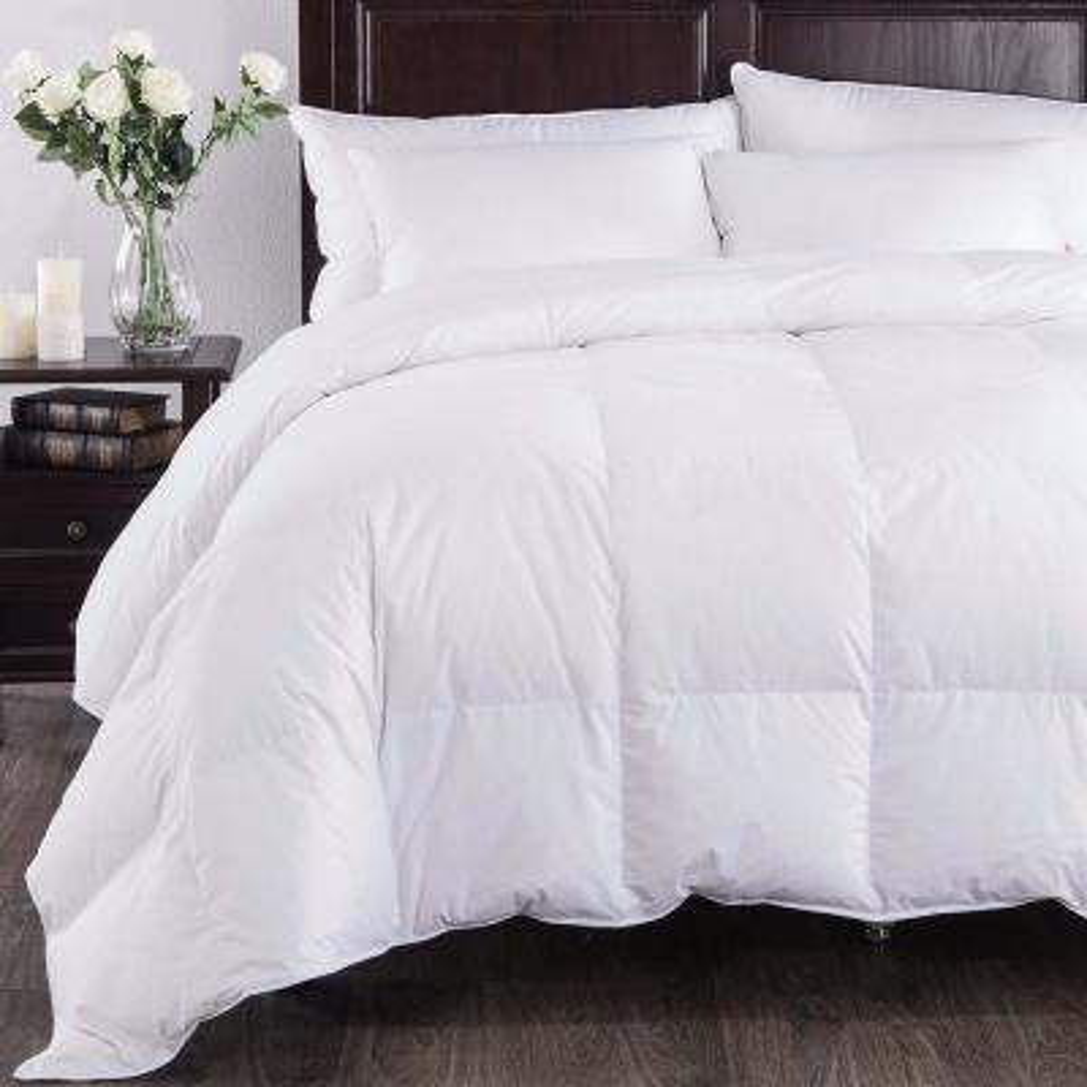 All Season Year Round Warmth White King Down Comforter