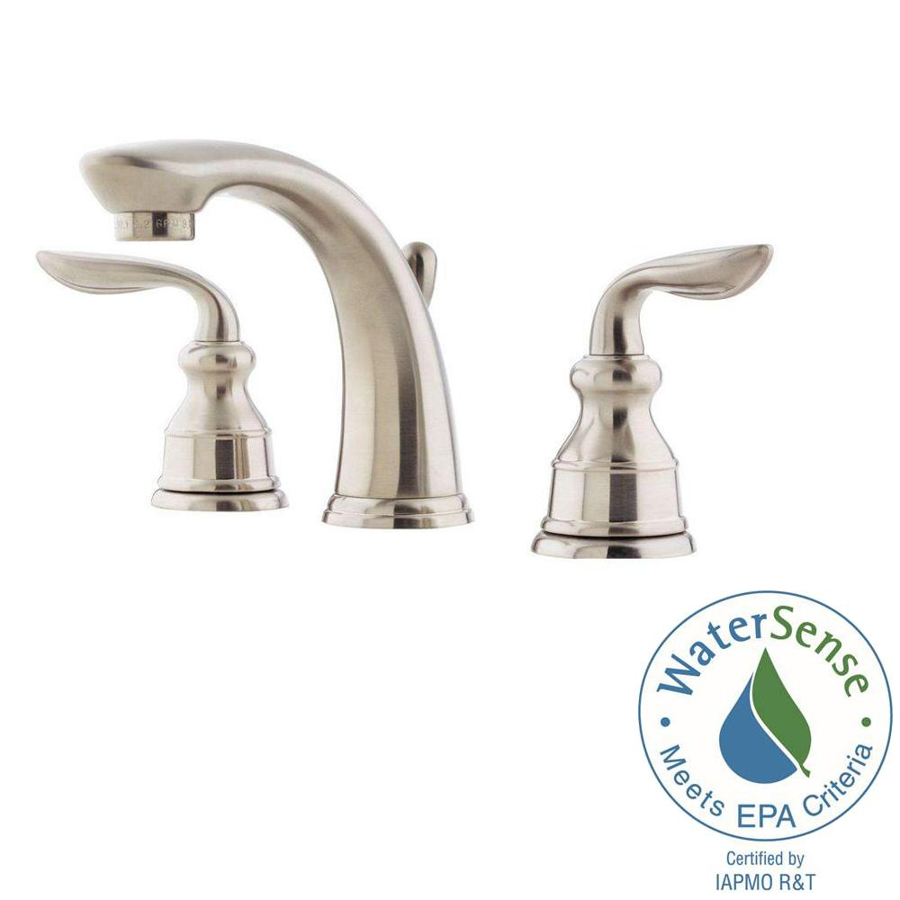 Pfister Avalon 8 in. Widespread 2-Handle Bathroom Faucet in Brushed ...