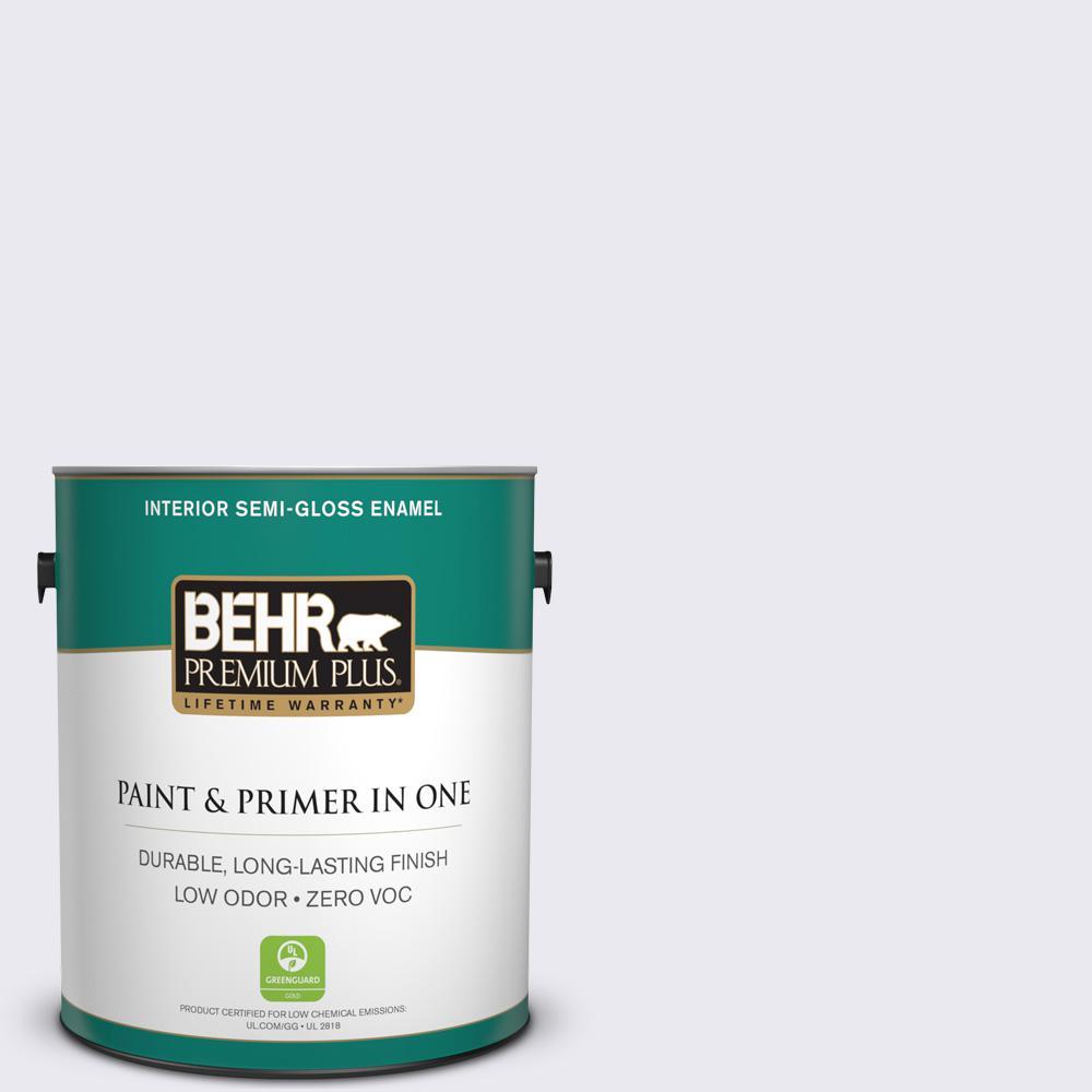 1 gal. #650E-1 Lace Cap Semi-Gloss Enamel Zero VOC Interior Paint